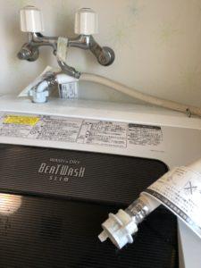 洗濯機の給水ホース外れ